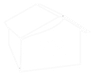 YB House Logo White